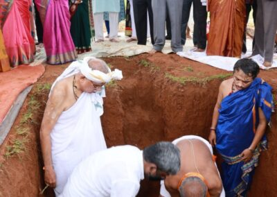 The Foundation Stone Laying ceremony of 'Infosys Foundation Seva Bharathi Campus for Divyang'